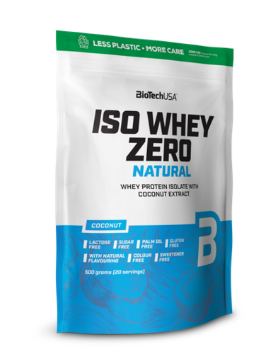 BioTech USA Iso Whey Zero Natural 500g Coconut Extract (35,60€/Kg)