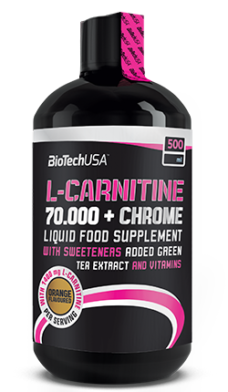 BioTech USA L-Carnitine 70.000 + Chrome 500ml Flasche (31,98€/l)